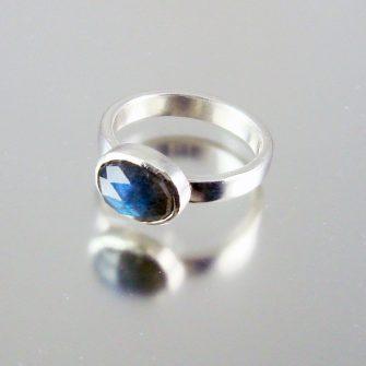 Labradorite & Silver Ring- Flash