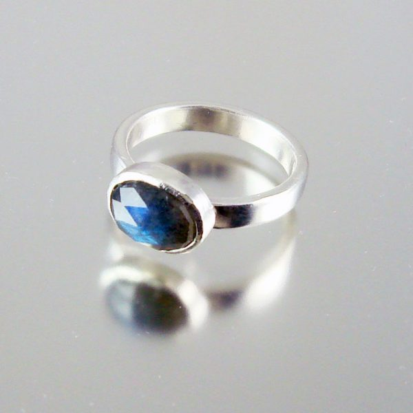 Labradorite & Silver Ring- Flash