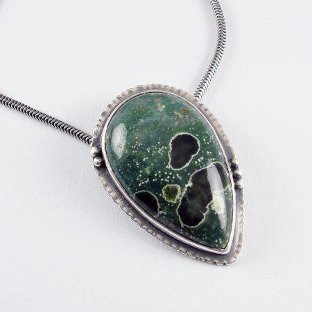 Ocean Jasper Pendant in sterling silver