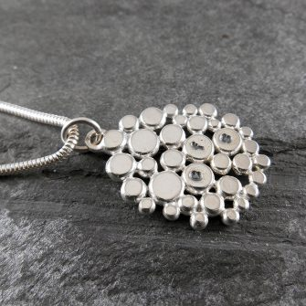 Personalised Cobblestone Silver Pendant