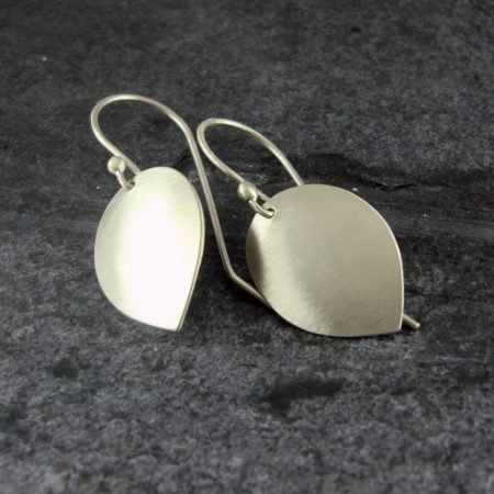 Petal Drop Silver Earrings