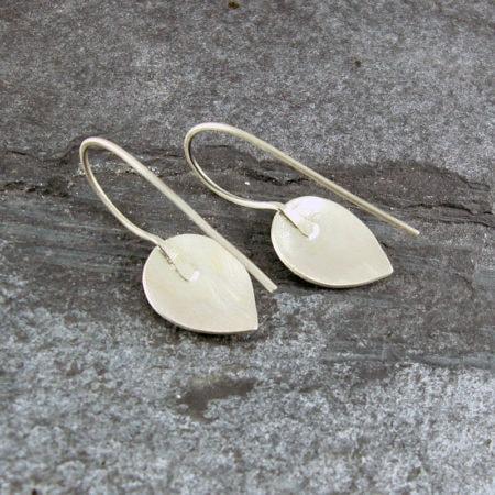 Petal Fixed Drop Silver Earrings