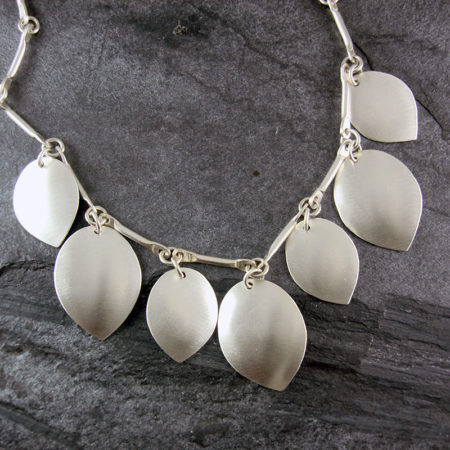 Petal Silver Necklace