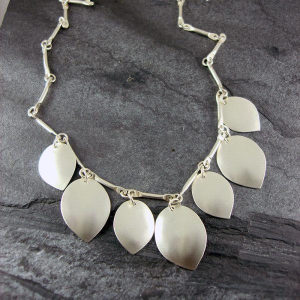 Petal Silver Necklace