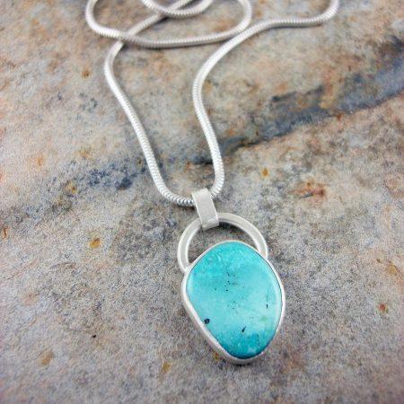 Pilot Mountain Turquoise & Silver Pendant