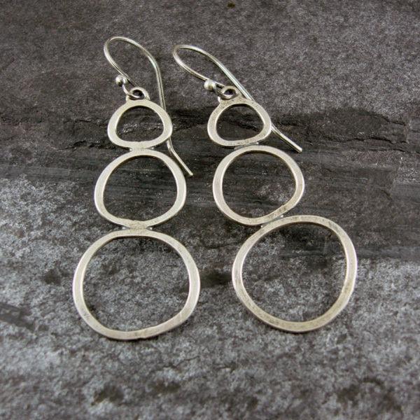 Rock Pools Silver Earrings