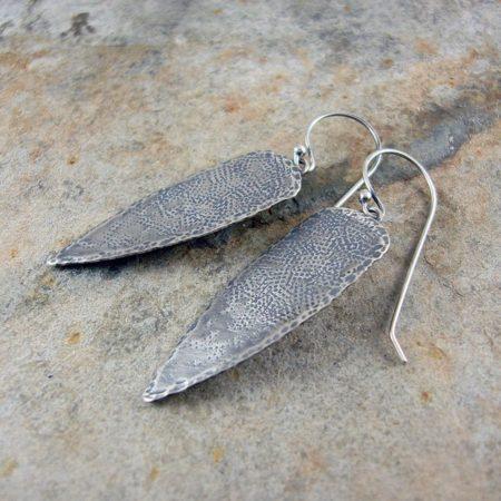 Tribal Spears Silver Earrings