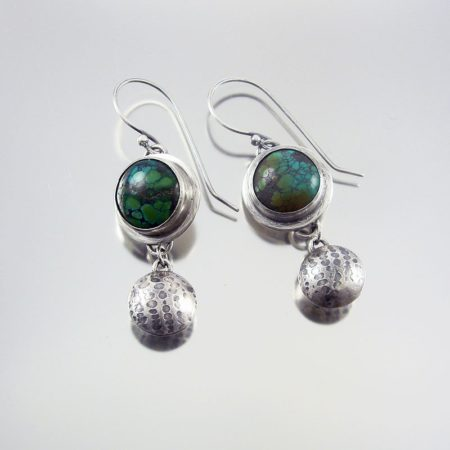 Turquoise & Silver Earrings - Charmed