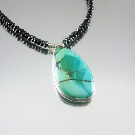 Turquoise & Silver Necklace - Black Turquoise