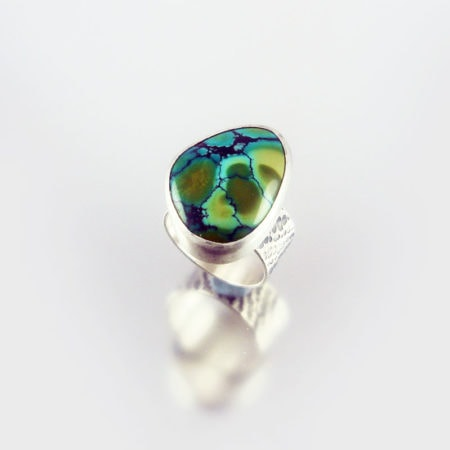 Turquoise & Silver Ring - River Delta