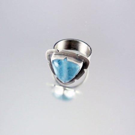 Aquamarine & Silver Ring - Powder Blue