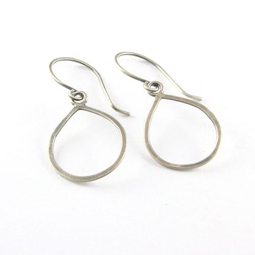 Drop Loop Silver Earrings