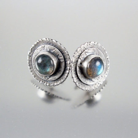 Graffiti Labradorite Stud Earrings