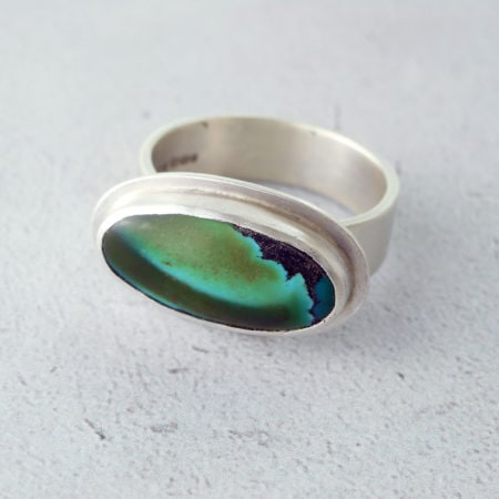 turquoise ring in silver