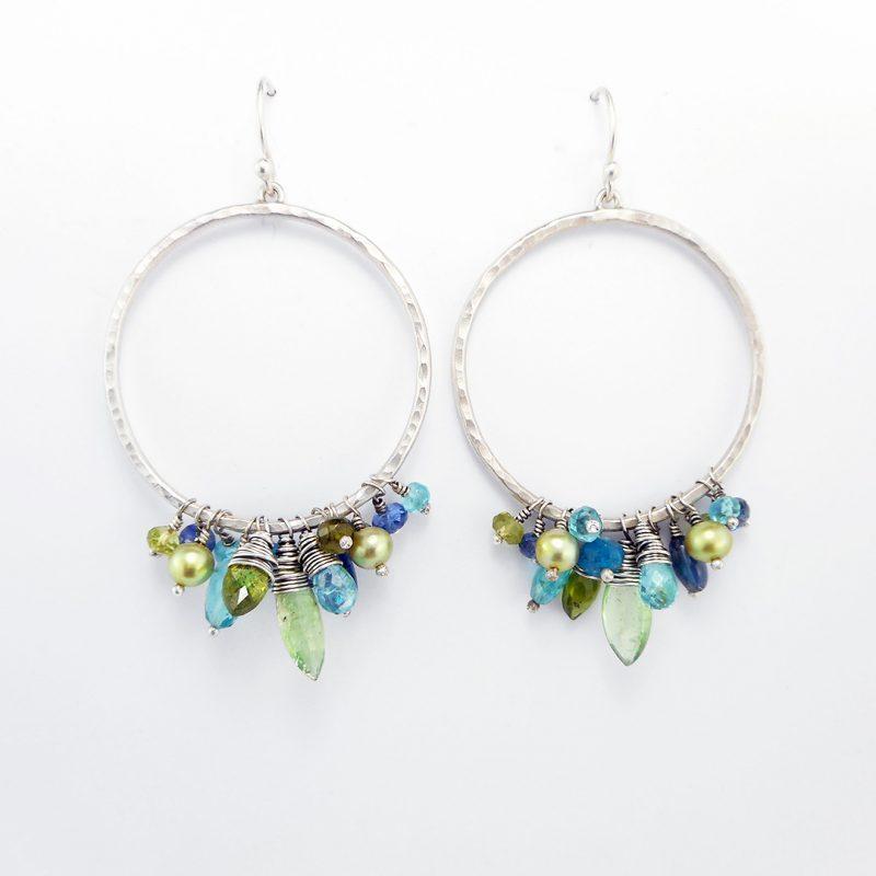 The Earring Club; May 2017, gemstone hoop earrings