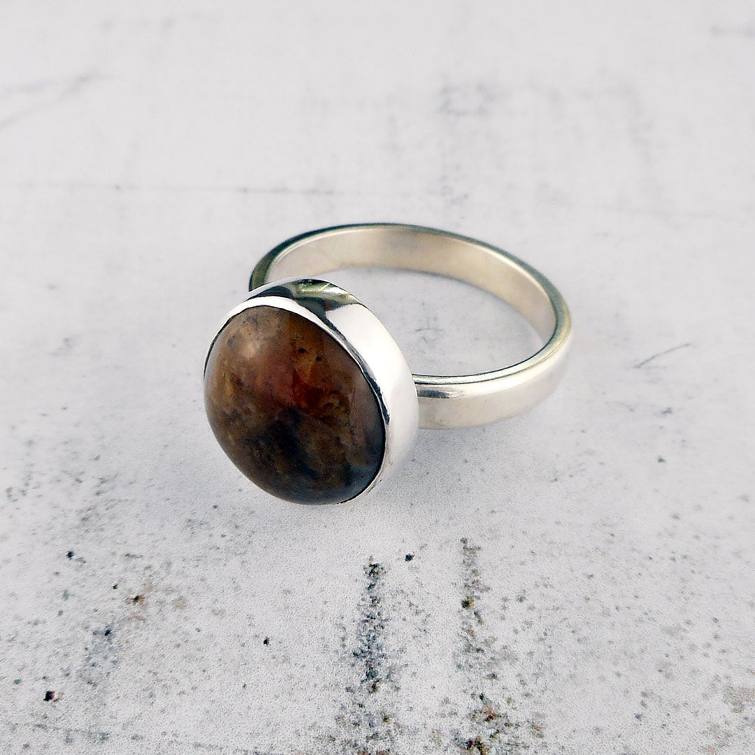 custom ring commission using the clients own stone