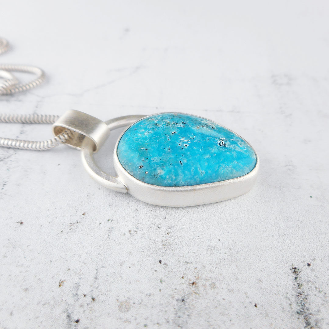 one of a kind turquoise pendant