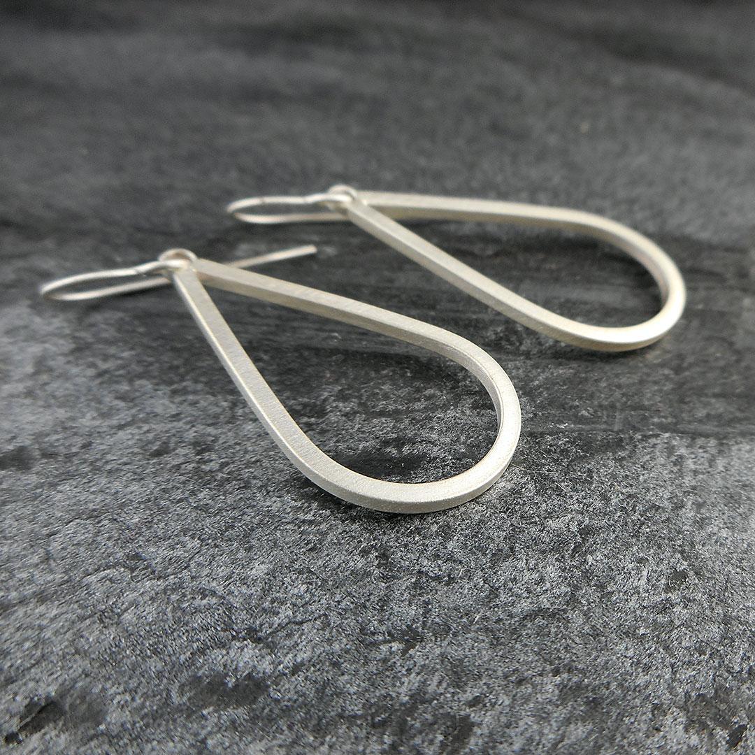 Simplicity silver drop earrings