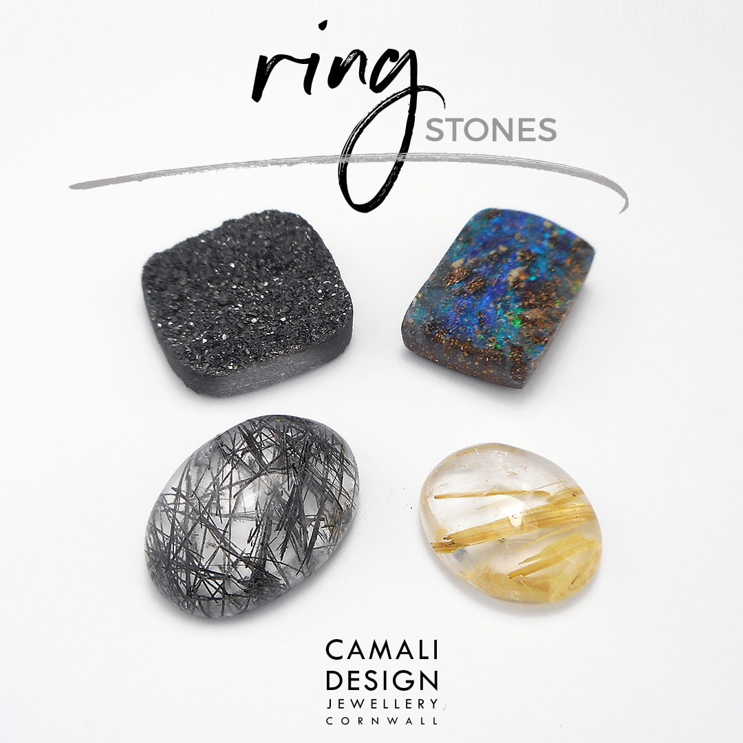 new rings coming up, stones on the bench