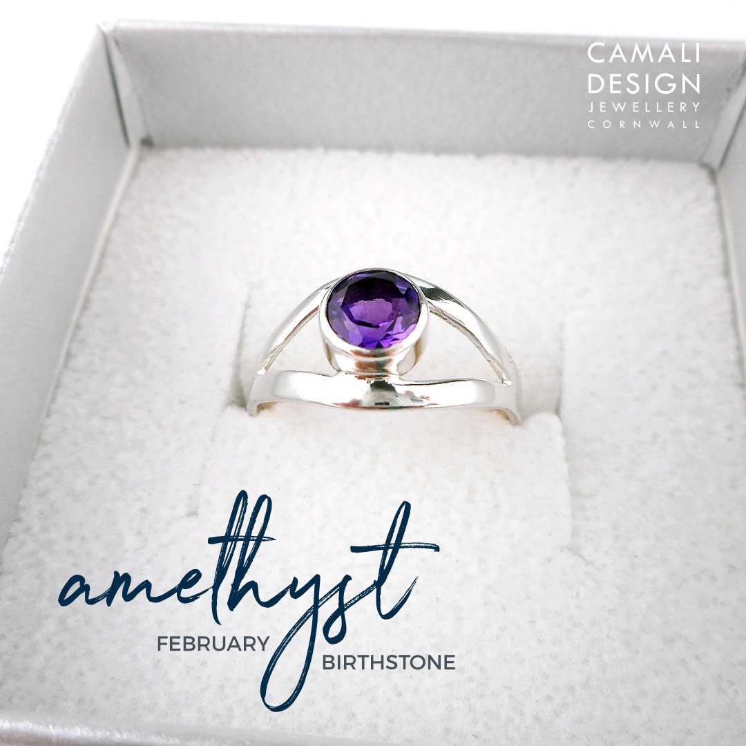jewellery repairs re-set stone amethyst