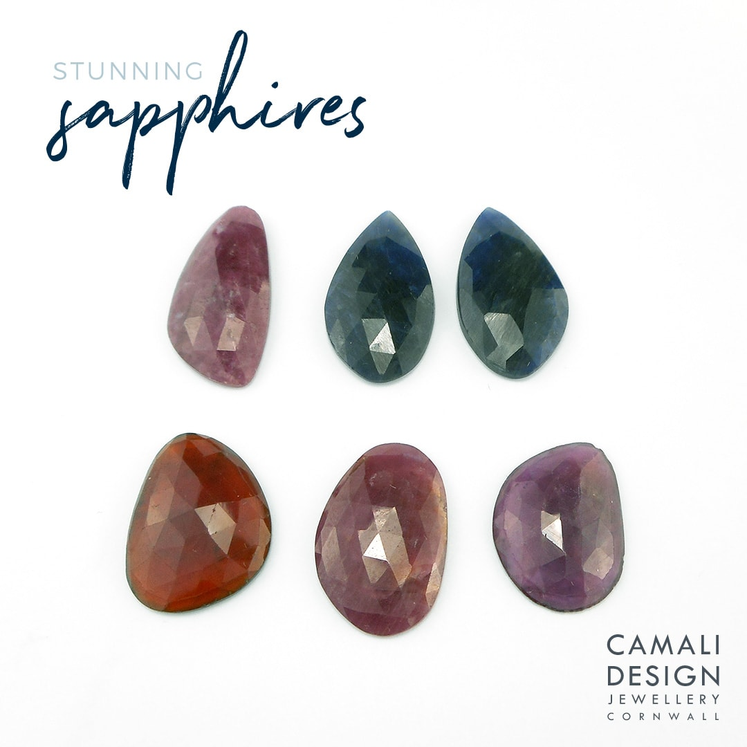 new rose cut sapphires for one of a kind jewellery