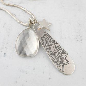 Crystal Quartz Simplicity pendant