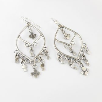 silver chandelier earrings