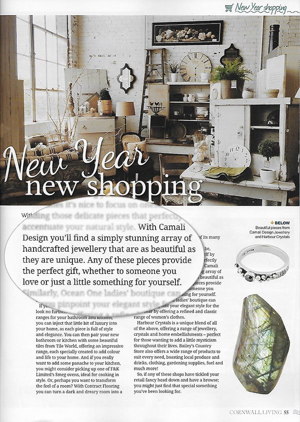 Diamond ring featured in Cornwall Living