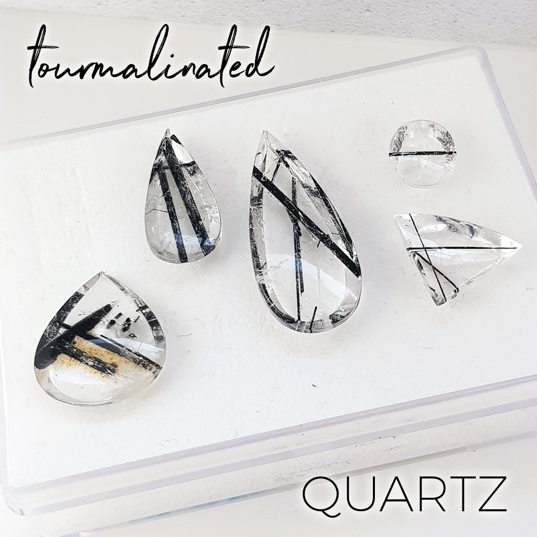 Tourmalated quartz stones