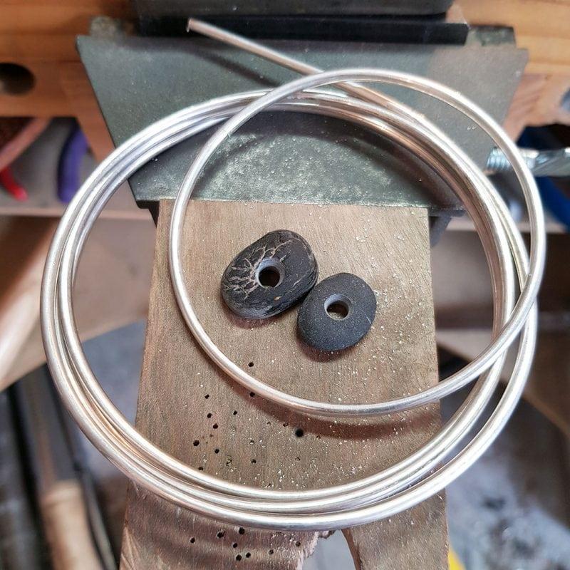 the making of a pebble bangle 1