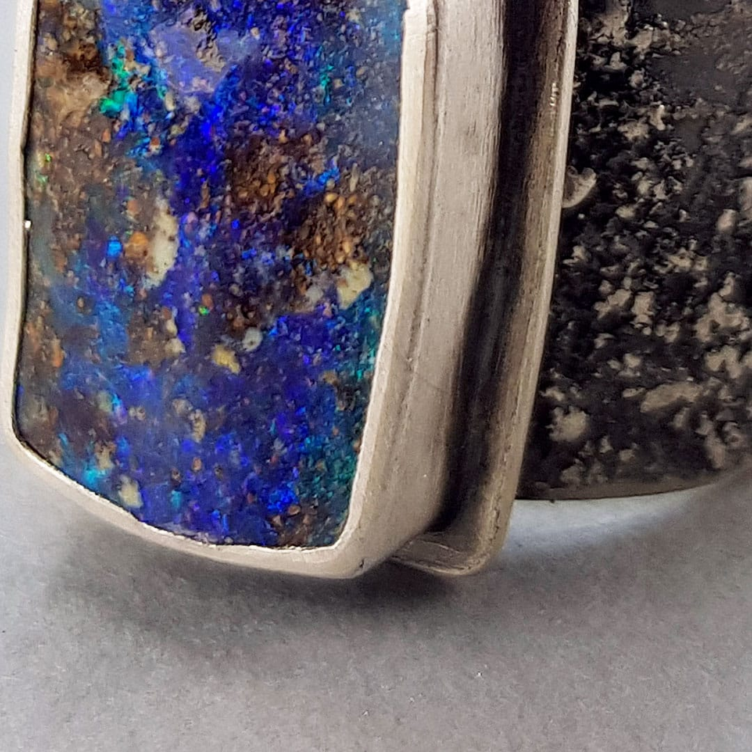 sneaky peek of new ring with opal