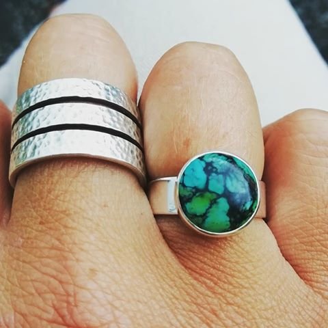 Happy turquoise ring customer