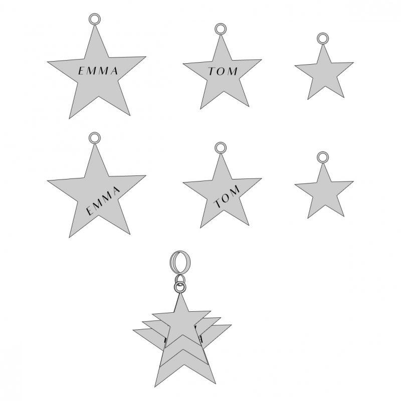 Triple Star Pendant commission sketch