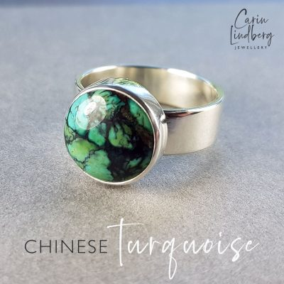 turquoise button ring