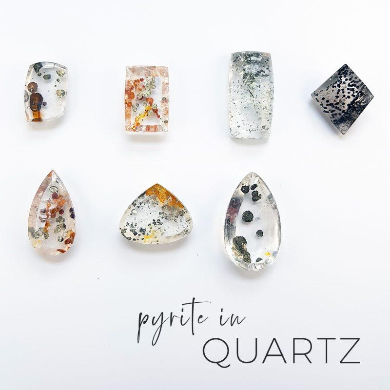 pyrite in quartz stones