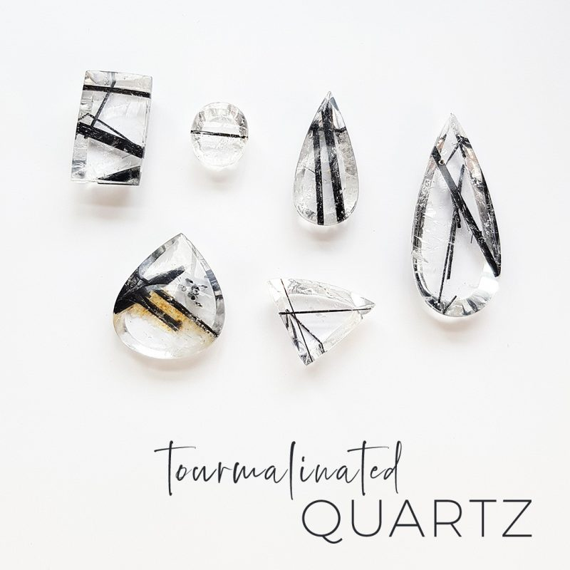 tourmalinated quartz stones to be made into jewellery