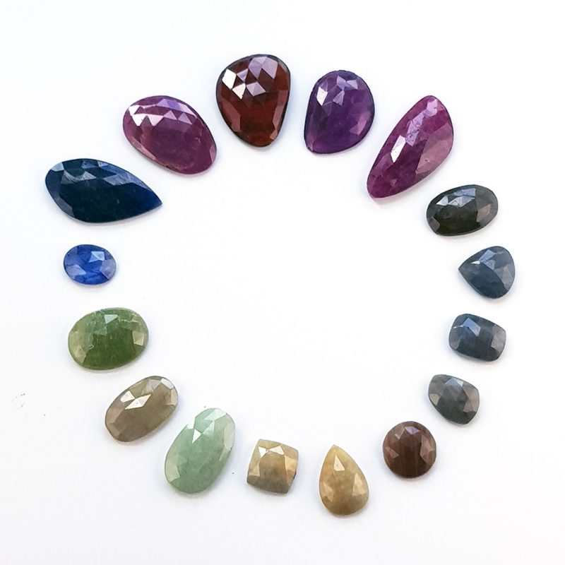 rainbow colours of sapphires