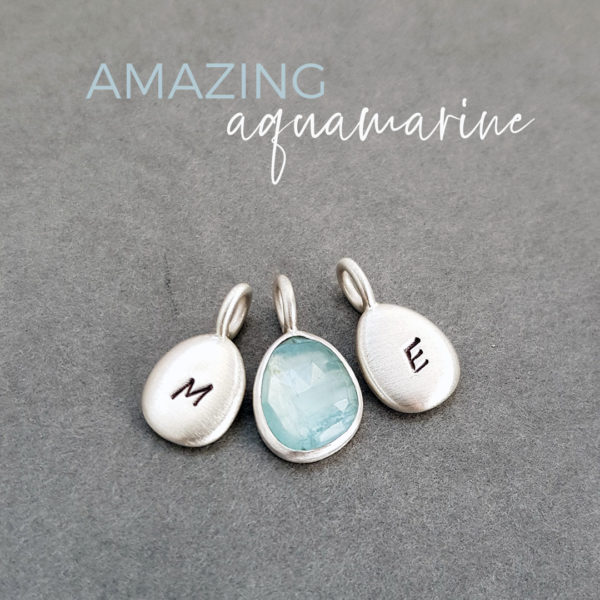 aquamarine and silver pebble necklace commission