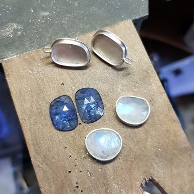 glorious tanzanite and rainbow moonstone