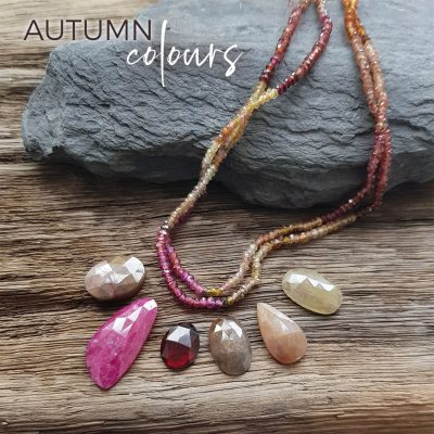 autumn coloured sapphires