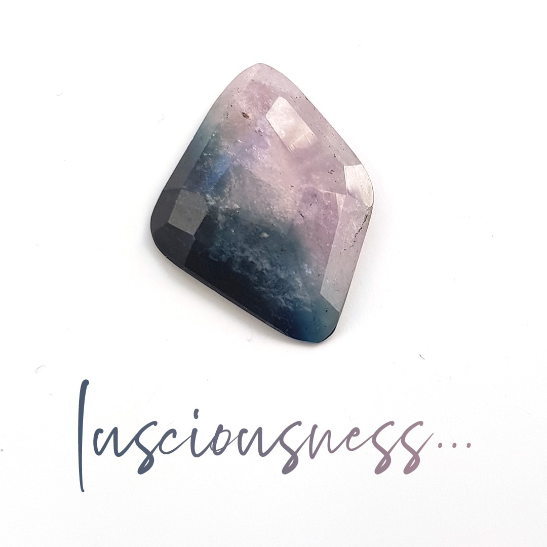 Bi-colour tourmaline available for ring or necklace commission