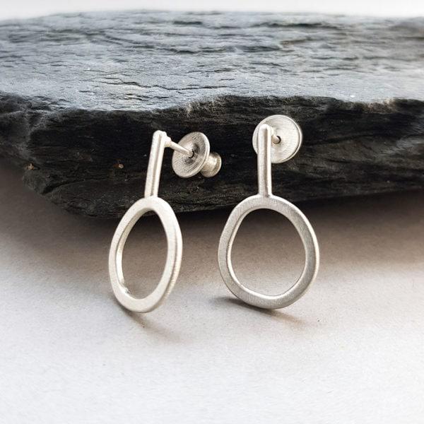 Rockpool stud earrings with stems, custom made