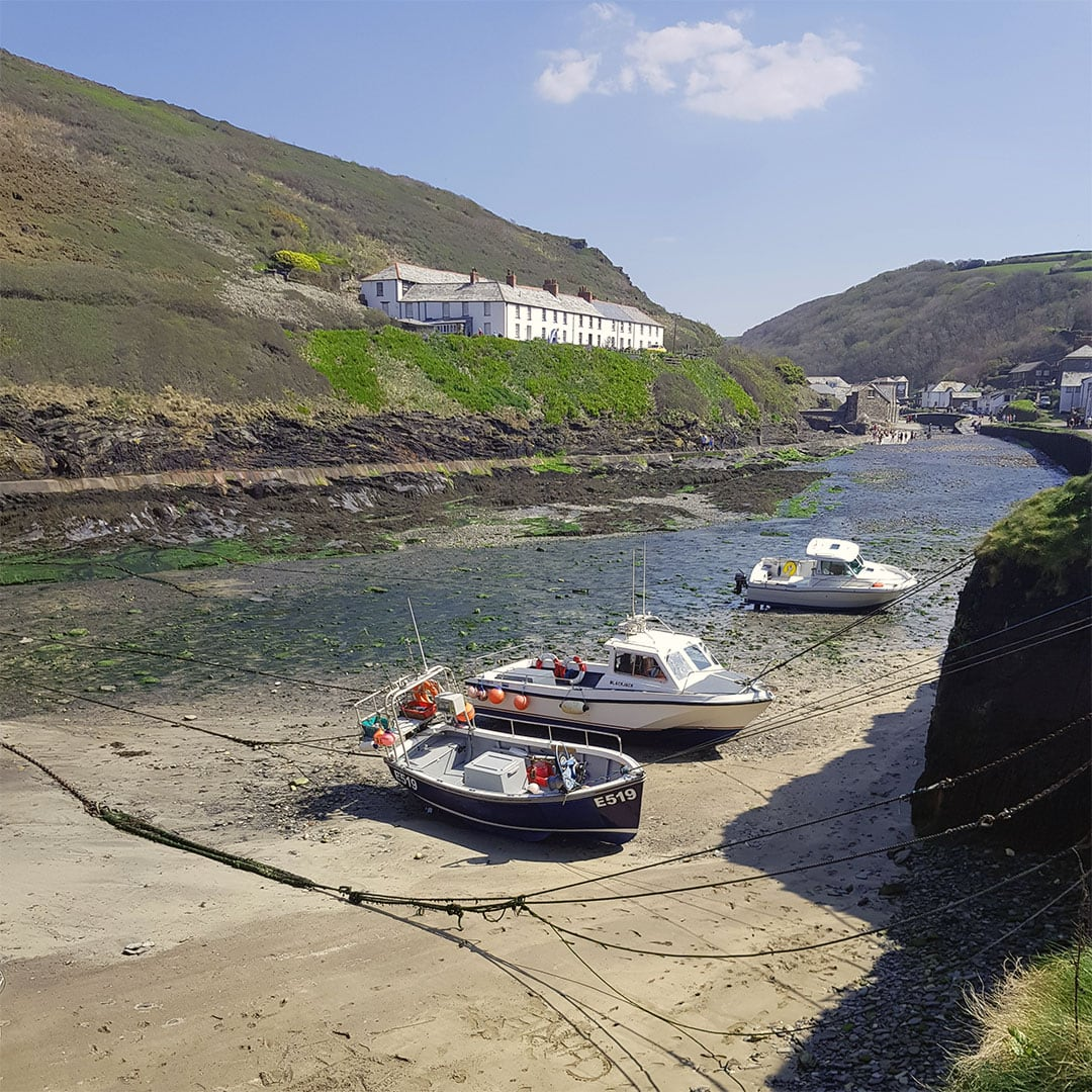 Fishing boats in Boscastle harbour, Cornwall