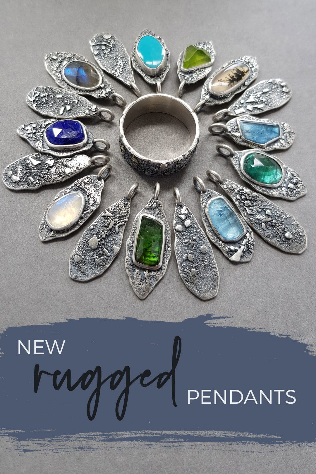 10 new Rugged cluster pendants in the shop!
