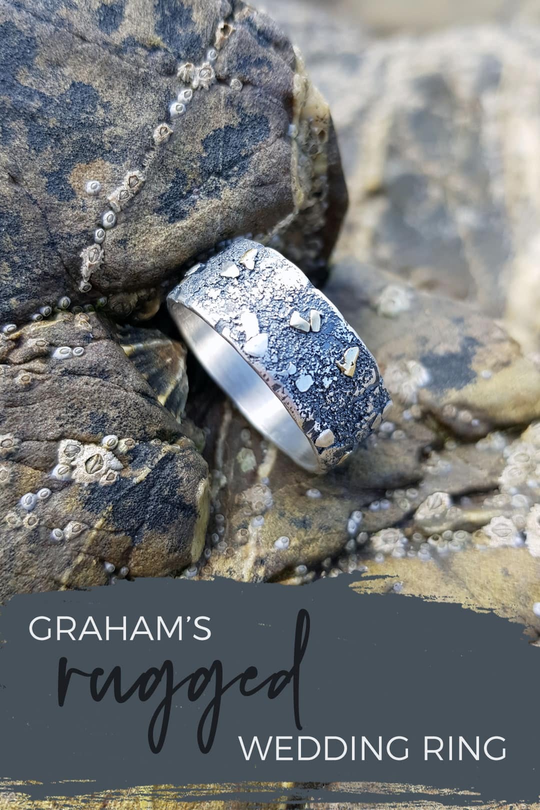 Graham's silver and gold Rugged wedding ring commission