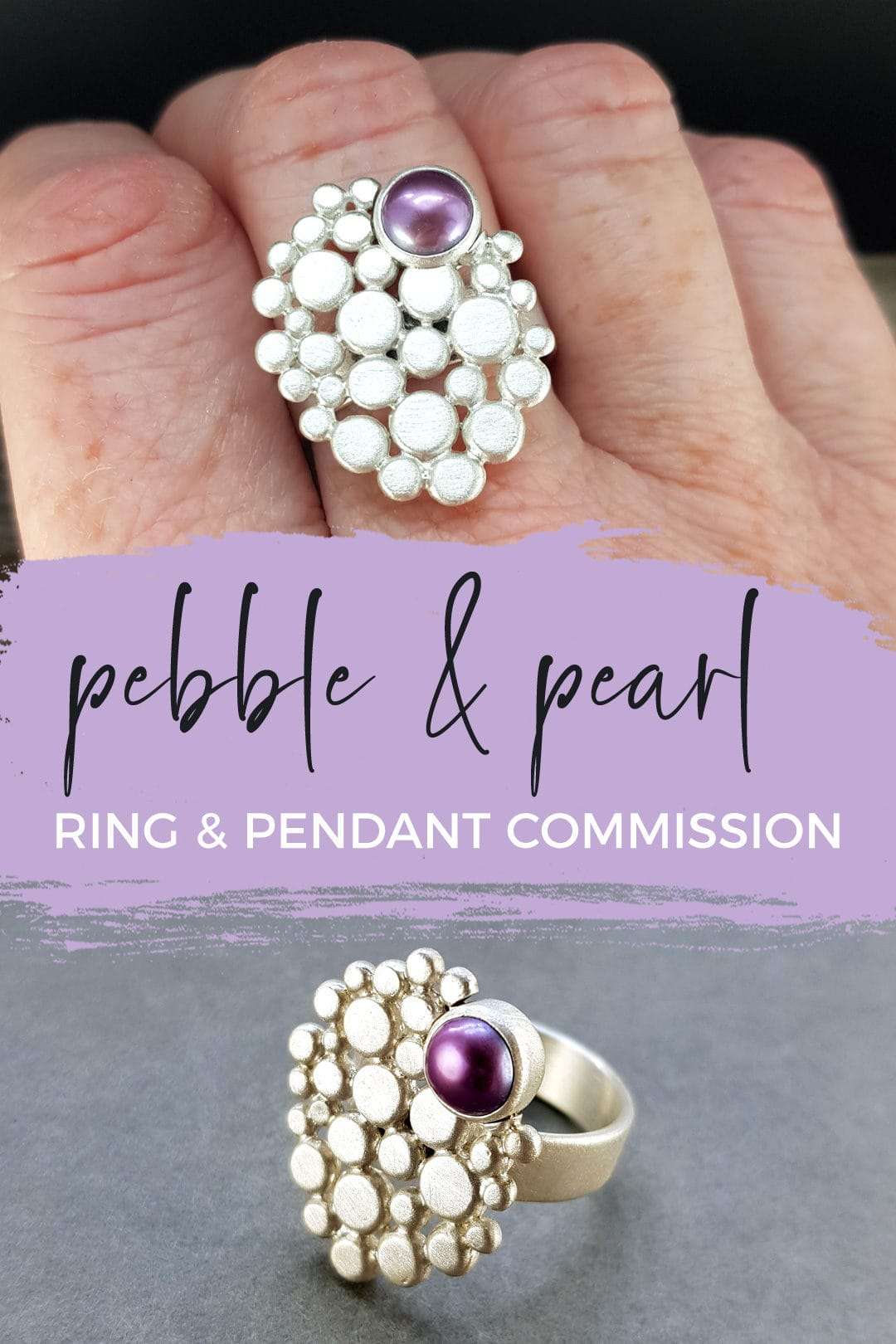 Multi pebble and pearl ring commission