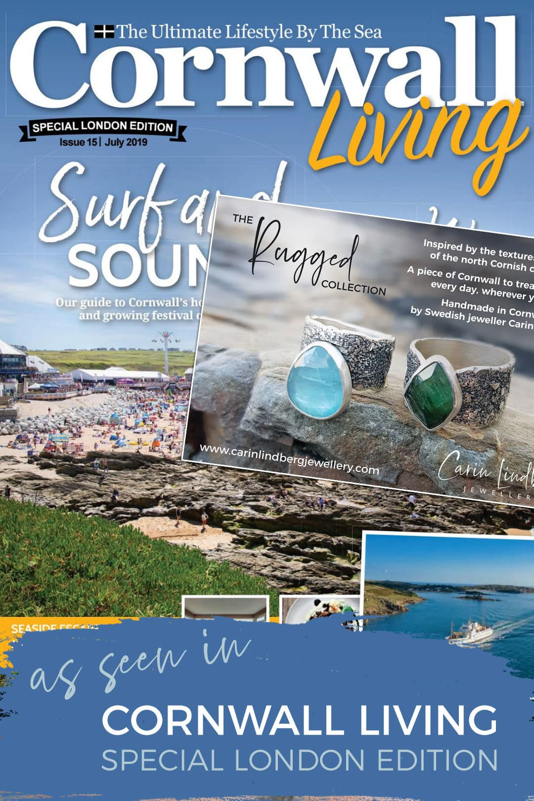 Carin Lindberg Jewellery in Cornwall Living magazine London edition