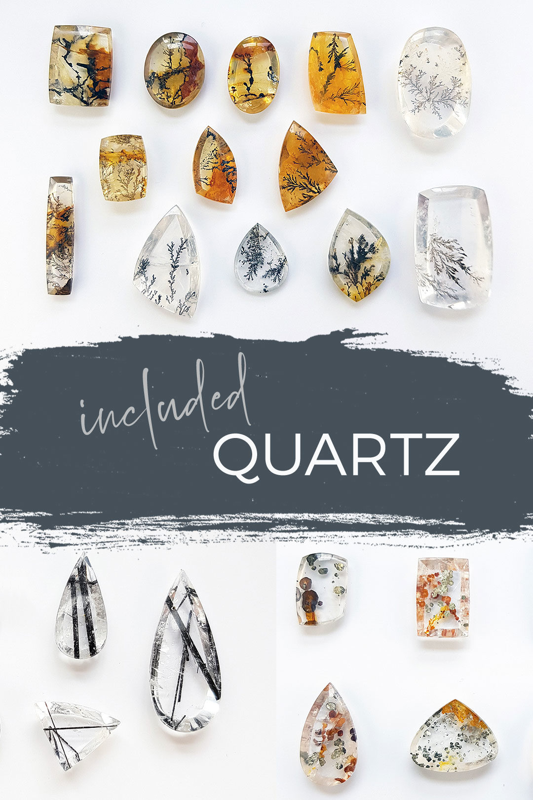 included quartz stones for new jewellery collection