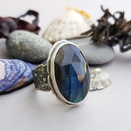 One off Labradorite and sterling silver ring