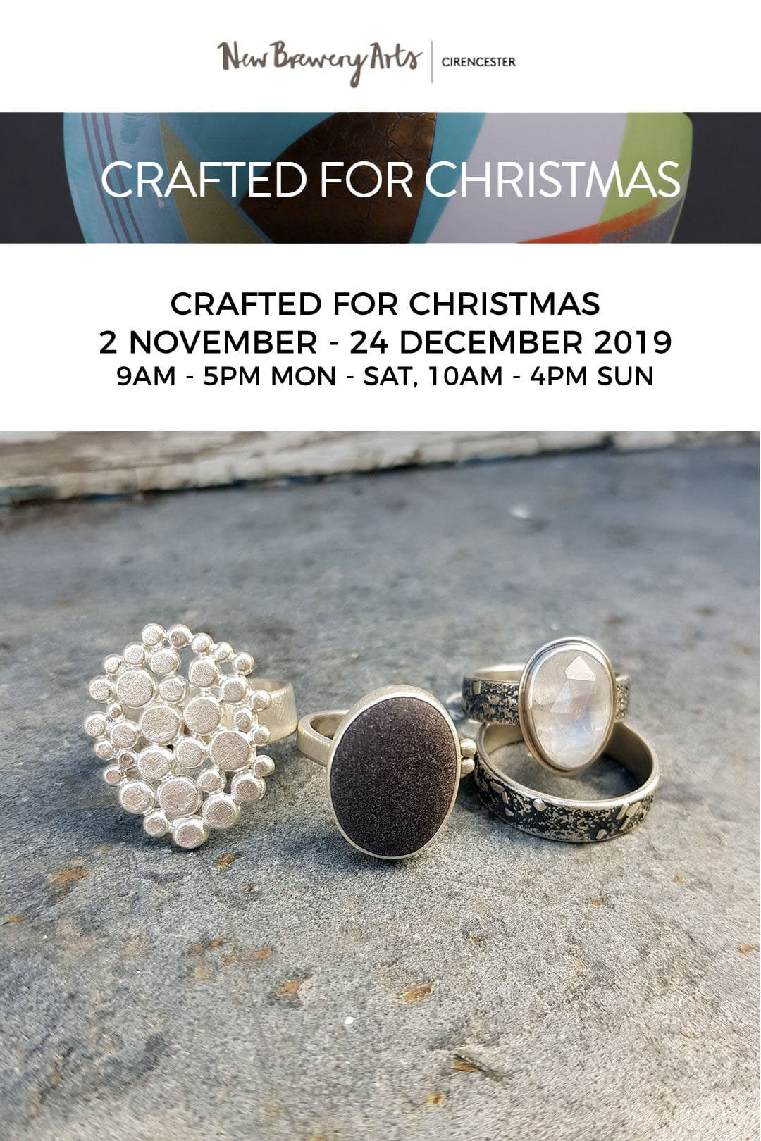 Crafted for Christmas Exhibition, New Brewery Arts, Cirencester